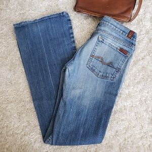 7 For All Mankind flare leg, low rise jeans